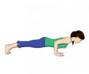 THE POSE OF THE STICK - Chaturanga Dandasana