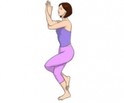 THE POSE OF THE EAGLE - Garudasana