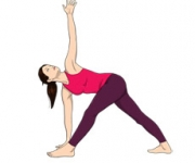 THE POSE OF THE TRIANGLE - Trikonasana