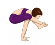 POSE PRESSURE ON HANDS - Bhujapidasana