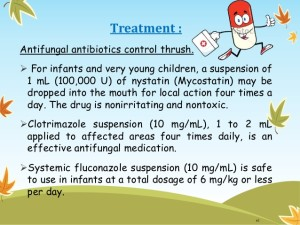 General and local therapy to thrush