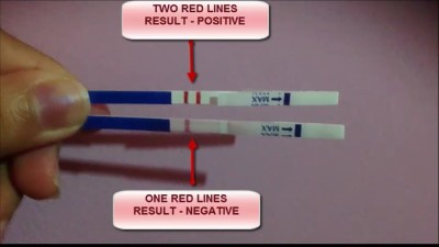 Strip on pregnancy test - positive or negative photo