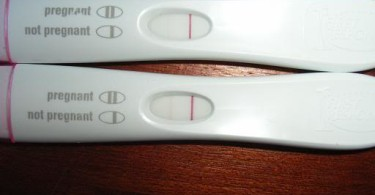Looks like a positive and a negative result pregnancy test