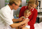 Vaccine (vaccination) against measles in children