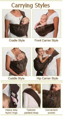 How to wear the sling newborn