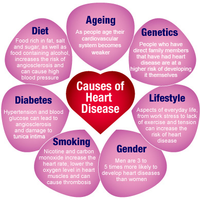 Causes of heart disease