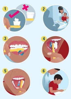 How to brush their child's teeth