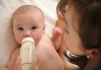 Feeding baby bottle