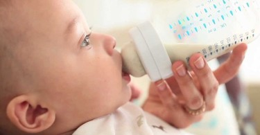 Feeding the baby formula milk