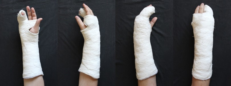 Broken arm with offset