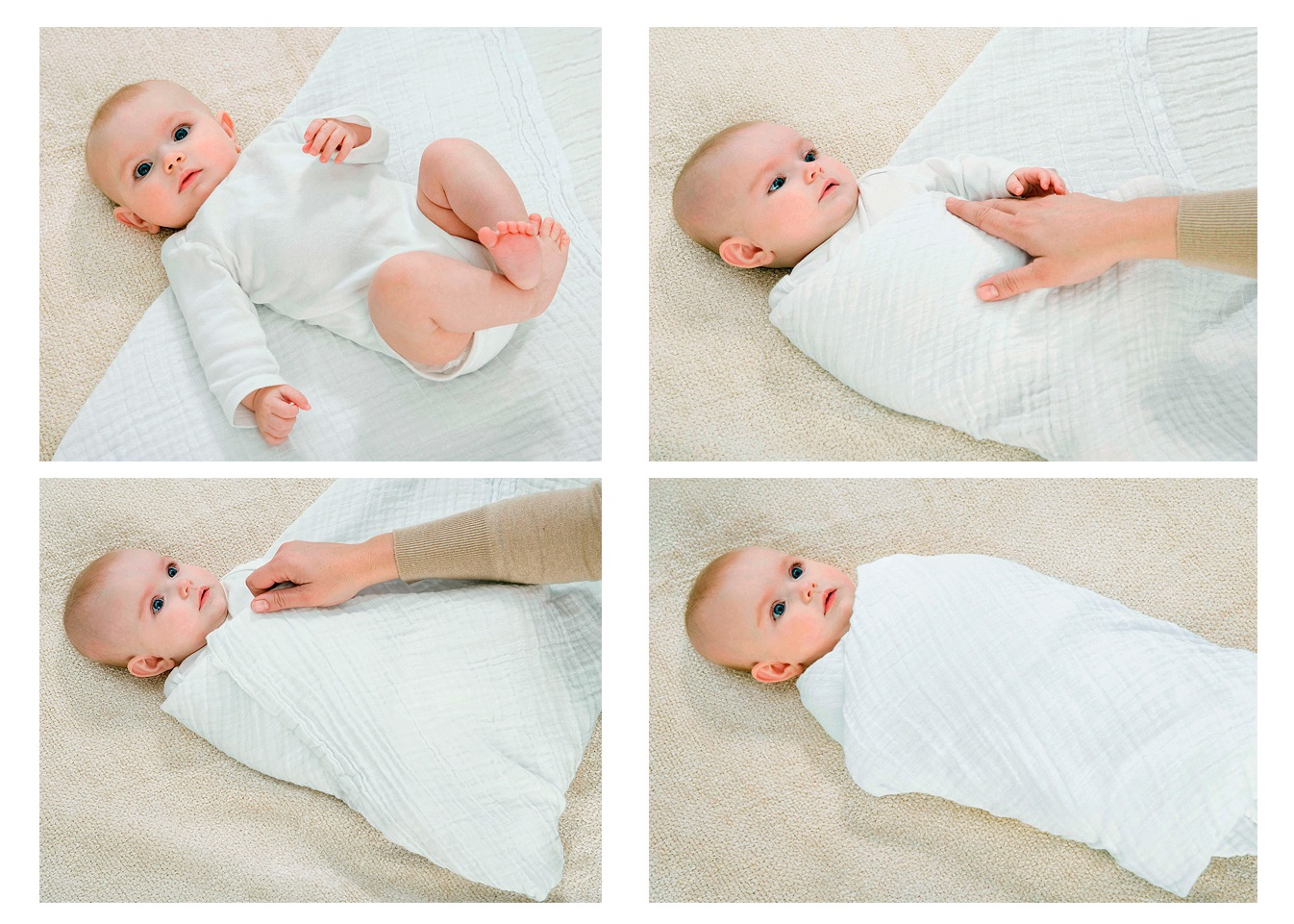 Swaddling baby - how to swaddle