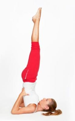 The position of the candle - Sarvangasana