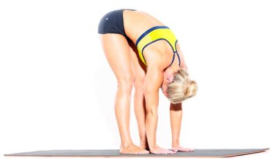 The position of tilt to the soles - Uttanasana