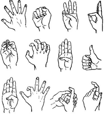 Self-treatment of spasms of the hands - exercise